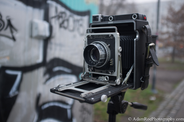 """The 4x5"""" view camera from the 1950's that we'll use for the workshop. Sweet."""